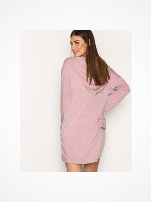 Street & luvtröjor - NLY Trend Cozy Couture Hoodie Mauve
