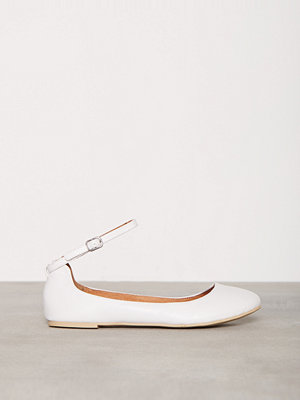 Ballerinaskor - Bianco Ankle Strap Ballerina Vit