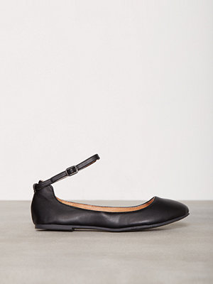 Ballerinaskor - Bianco Ankle Strap Ballerina Svart