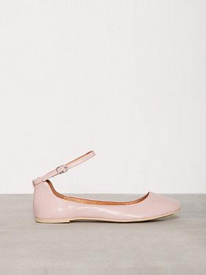 Ballerinaskor - Bianco Ankle Strap Ballerina Rose