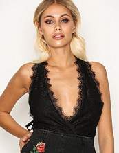 Topshop Lace Plunge Tie Side Body