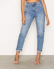 Topshop MOTO Mid Blue Mom Jeans Mid Blue