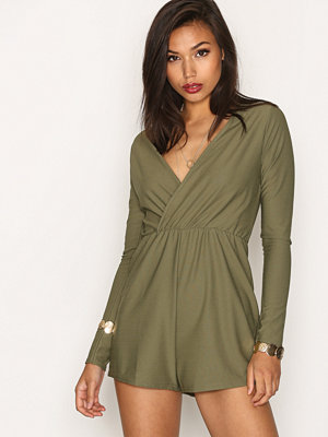 Jumpsuits & playsuits - Missguided Crepe Wrap Playsuit