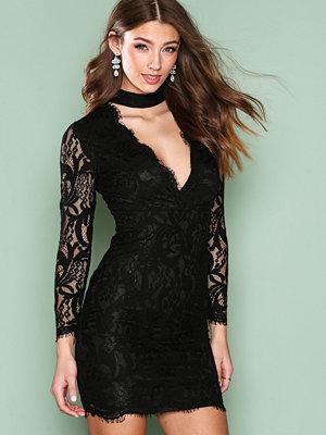 Ax Paris Lace Choker Bodycon Dress Black