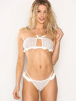 For Love & Lemons Alicante Lace Ruffle Bottom Ivory