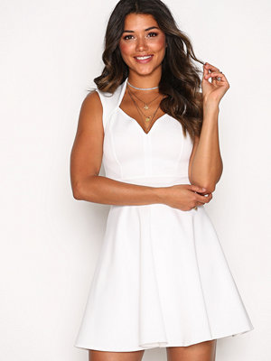 NLY One Sweetheart Skater Dress Vit