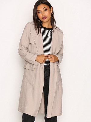 New Look Soft Belted Military Trench Coat