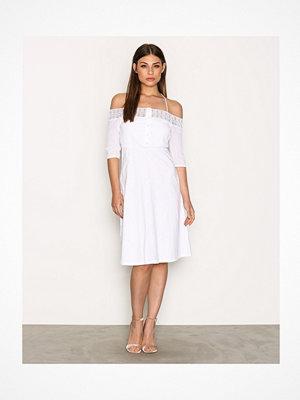Topshop Crochet Cold Shoulder Dress White
