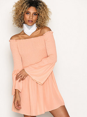Missguided Bardot Swing Dress Blush
