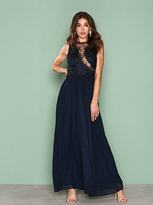 Ax Paris Lace Detail Dress Navy