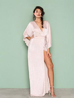 NLY One Kimono Wrap Maxi Dress Champagne