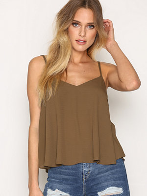 Topshop Rouleau Swing Cami Olive