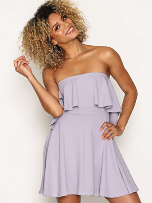Missguided Skater Bardot Swing Dress Purple
