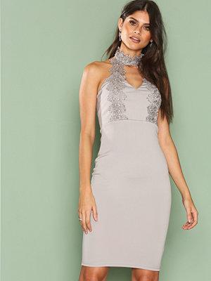 Ax Paris Halsterneck Choker Dress Grey