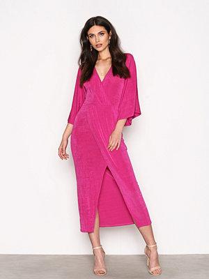 NLY Trend Kimono Wrap Dress Fuchsia