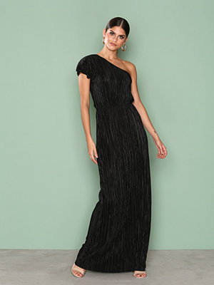 NLY Eve One Shoulder Drape Gown Svart