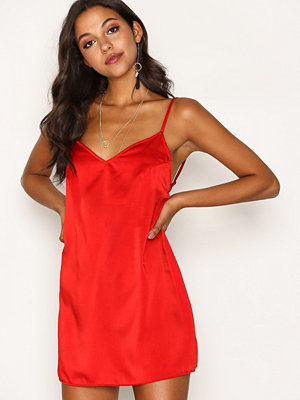 Motel Maltri Slip Dress Red