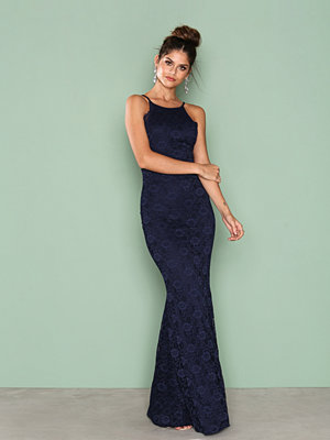 NLY Eve Romantic Halterneck Gown Navy