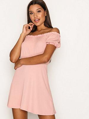 Topshop Bardot Skater Dress Pink