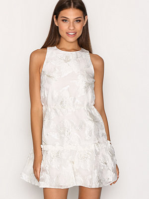 Topshop Organza Drawcord Shift Dress Ivory