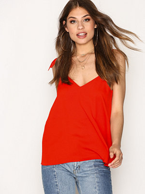 River Island Bow Shoulder Cami Top Red