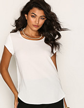 Only onlVIC S/S Solid Top Noos Wvn Vit