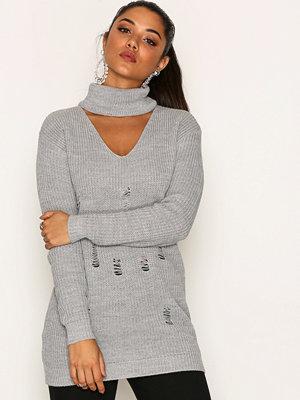 Glamorous Destroyed Choker Knit Grey