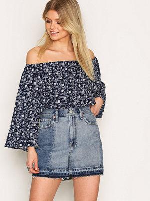 Denim & Supply Ralph Lauren Patched Denim Skirt Denim