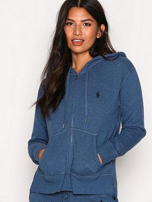 Street & luvtröjor - Polo Ralph Lauren Hooded Front Zip Long Sleeve Knit Shale