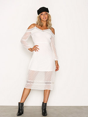 River Island LS Bardot Dress White