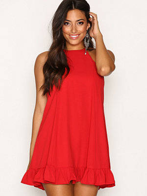 Glamorous Flounce Bottom Dress Red
