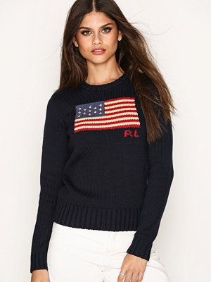 Polo Ralph Lauren Crew Neck Long Sleeve Sweater Navy