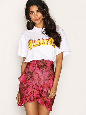 Missguided Wrap Frill Skirt Hot Pink