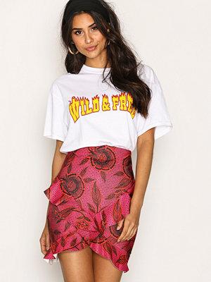 Kjolar - Missguided Wrap Frill Skirt Hot Pink