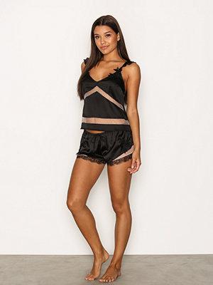 Pyjamas & myskläder - River Island Satin Pyjama Shorts Black