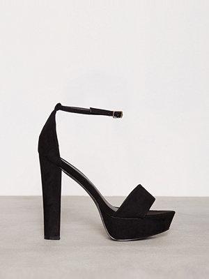 Pumps & klackskor - NLY Shoes Platform Heel Sandal Svart