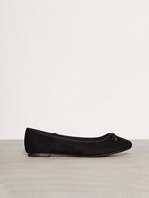 Ballerinaskor - New Look Suedette Ballet Pumps Black