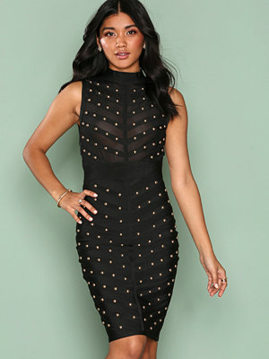 Wow Couture Sleeveless Detailed Bodycon Dress Black