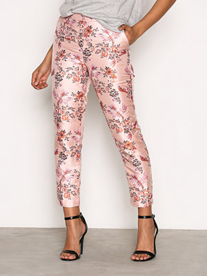 New Look persikofärgade byxor med tryck Oriental Jacquard Trousers Pink