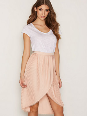 River Island Wrap Pleat Skirt Ljus Rosa