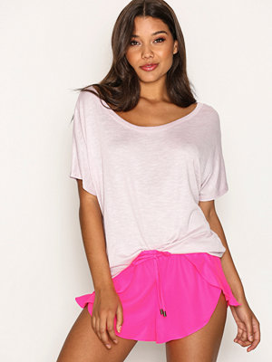 Strandplagg - New Look Frill Trim Beach Shorts Pink