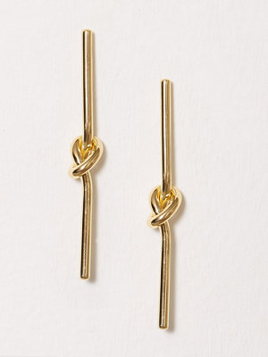 SOPHIE By SOPHIE örhängen Knot Stick Earrings Guld