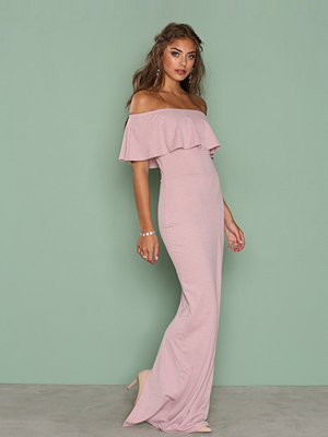 NLY Eve Frill Crepe Gown Mauve