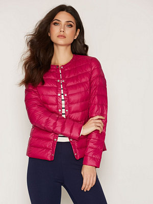 Lauren Ralph Lauren Soft Down Collarless Raspberry