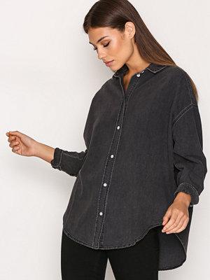 Topshop Elton Shirt Washed Black