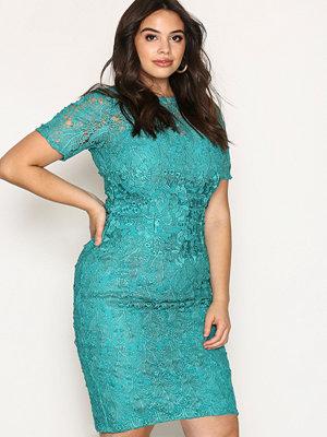 Festklänningar - Little Mistress Short Sleeve Lace Dress Jade