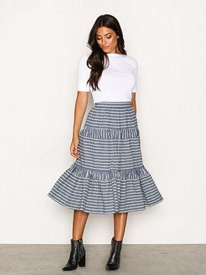 Lauren Ralph Lauren Vanuth Full Skirt Blue/White
