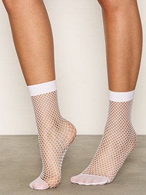 Strumpor - Topshop Fishnet Ankle Socks White