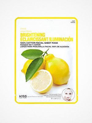 Ansikte - Kiss Professional New York Brightening Sheet Mask Lemon