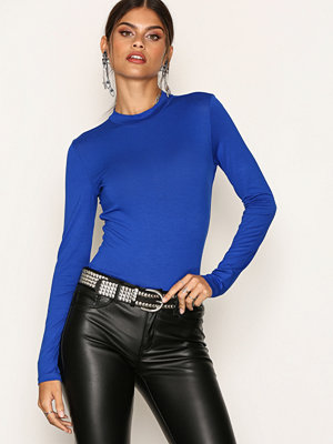 NLY Trend Feeling Free Polo Top Cobolt Blue
